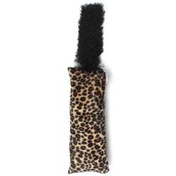 Interaktívna hračka s chvostom pre mačičku - vzor leopard
