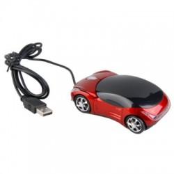 USB optická myš - športové auto