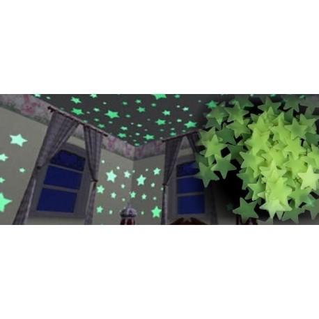 Svietiace hviezdičky na stenu 100ks