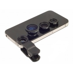 Prídavné objektívy na mobilný telefón - 3 v 1