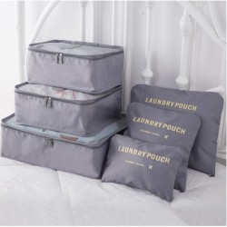Praktické cestovné tašky a organizéry na cesty - 6 ks - sivé