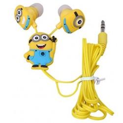 Štupľové slúchadlá - žltý panáčik