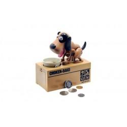 Pokladnička na mince - hladný psík - hnedo-čierny