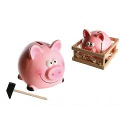 Pokladnička prasiatko s kladivkom