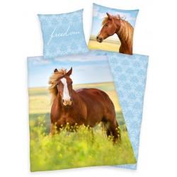 Bavlnené obliečky na jednolôžko - Kôň, freedom