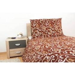 Bavlnené obliečky na dvojlôžko - Orient Brown