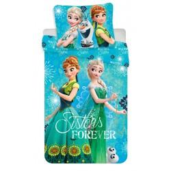 Bavlnené obliečky na jednolôžko - Frozen, Sisters Forever