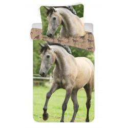 Bavlnené obliečky na jednolôžko - Kôň Western