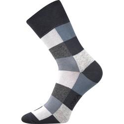 Unisex ponožky - Crazy kocky, šedé