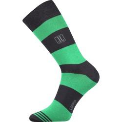 Unisex ponožky - Crazy pruhy, zelené