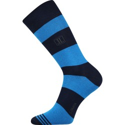 Unisex ponožky - Crazy pruhy - modré - Lonka