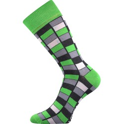 Unisex ponožky - Crazy mozaika, zelené
