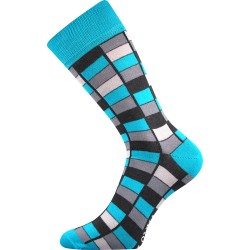 Unisex ponožky - Crazy mozaika, modré