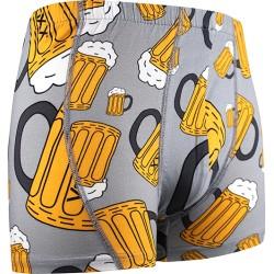 Boxerky s motívom - pivo - svetlo šedé