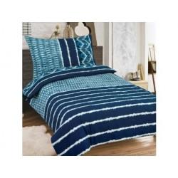 Bavlnené obliečky na dvojlôžko - Modré