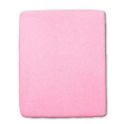 Froté prestieradlo do postieľky - ružové - 60 x 120 cm - New Baby