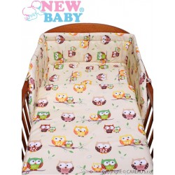 2-dielne posteľné obliečky New Baby 90/120 cm béžové so sovou