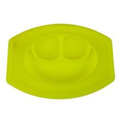 Silikónová podložka a tanier pre deti - žltá