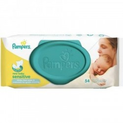 Pampers vlhčené obrúsky - New Baby Sensitive, 54ks