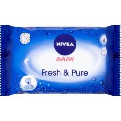 Vlhčené obrúsky - Baby Fresh & Pure - 63 ks - Nivea
