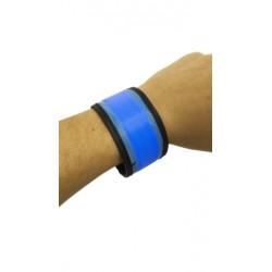 Svietiaci reflexný náramok 35 cm - modrý
