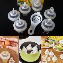 Pohár na varenie vajec - 6 ks + oddeľovač žĺtka od bielka