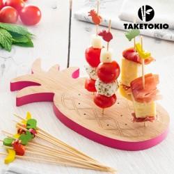 Bambusový set na jednohubky ananás TakeTokio (16 častí)