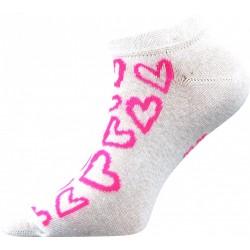 Dámske členkové ponožky - Srdiečka - ružové - Boma