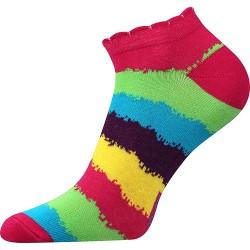 Dámske členkové ponožky - pruhované