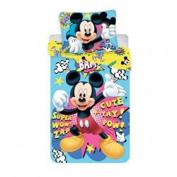 Bavlnená obliečka na jednolôžko - Mickey BAM micro
