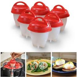Poháriky na varenie vajec - silikónové - súprava 6 ks