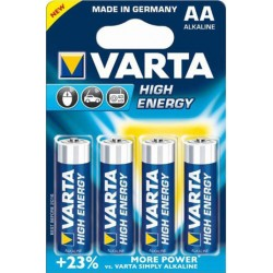 Alkalické batérie High Energy - 4x AA - 1,5V, 2930mAh - Varta