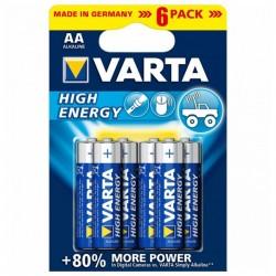 Varta 1,5V High Energy - 6x AA alkalické batérie