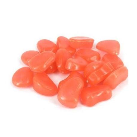 Ozdobné svietiace kamene - oranžové