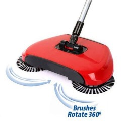 Mechanická rotačná metla Sweep Drag - červený
