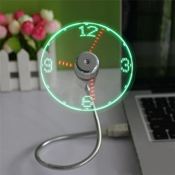 USB ventilátor s LED hodinami