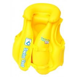 Detská nafukovacia vesta, žltá - Bestway