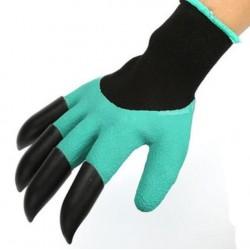 Praktické rukavice pre prácu na záhradke s plastovými pazúrikmi pre pravákov