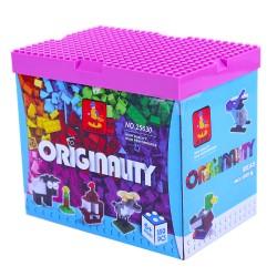 Stavebnica - kocky s hracou doskou - 350 dielcov - AUSINI