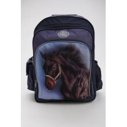Školský batoh - hnedý kôň