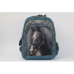 Školský batoh Nice and Pretty - modrý kôň