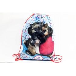 Taška na telocvik a prezuvky - Sweet Pets - psík