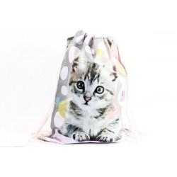 Taška na telocvik a prezuvky - Sweet Pets - mačička