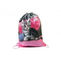 Taška na telocvik a prezuvky - Sweet Pets - mačička - BENIAMIN