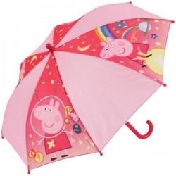 Vystreľovací dáždnik - Prasiatko Pepina - ružový