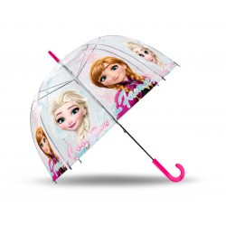 Priehľadný dáždnik - Ľadové Kráľovstvo Anna a Elsa