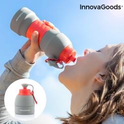 Skladacia silikónová fľaša na pitie - 580 ml - InnovaGoods