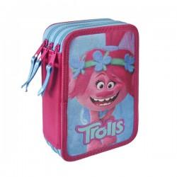 Trojposchodový peračník s vybavením - Trollovia Poppy