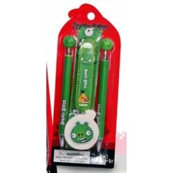 Sada písacích potrieb - Angry Birds - zelená
