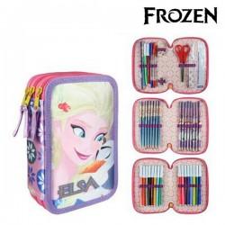 Trojposchodový peračník s vybavením - Frozen 8546 - fialový